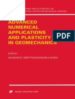 Vaughan D. Griffiths, Giancarlo Gioda Eds. Advanced Numerical Applications and Plasticity in Geomechanics