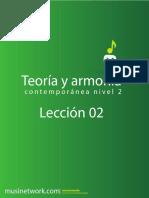 Teoria y Armonia contemporanea leccion 2