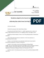 Ga 2014 Reoslution on Addressing Inter Ethnic Issues Involving Minorities