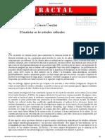 Nestor Garcia Canclini - El Malestar de Los Estudios Culturales - PDF