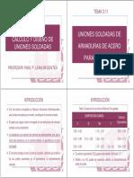 Tema_12 Calculo y Diseño de Uniones Soldadas