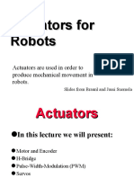 Actuators in Robotics