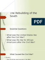 the rebuilding of the south ppt