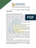 Fundamentacion de La Propuesta La Primera Modernizacion.