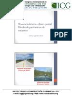 Recomendaciones Claves Para El Diseño de Pavimentos de Concreto