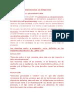Resumen Teoría General de Las Obligaciones