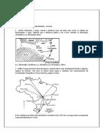 Lista de Exercícios de Cartografia Escala