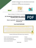 ETUDE DE FONCTIONNEMENT DE LA CHAUDIERE A TUBES D'EAU ET ELABORATION D'UN PLAN DE MAINTENANCE GENERALE