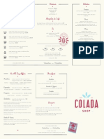 Colada Shop Menu