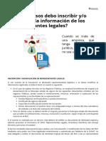 Guía Tributaria SUNAT - ¿en Qué Casos Debo Inscribir Y_o Modificar La Información de Los Representantes Legales