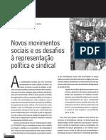 Novos movimentos sociais e os desafios à representação política e sindical
