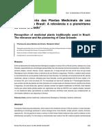 Reconhecimento das Plantas Medicinais de uso tradicional no Brasil - A relevância e o pioneirismo da Casa Granado