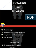 Orientation Jaw Relation Prostho