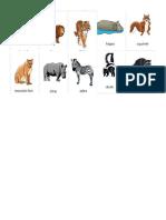 50 animales en Ingles y Español
