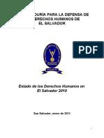 Estado de Los Derechos Humanos en El Salvador 2010