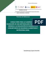 TdR Consultoría Diagnóstico SAN