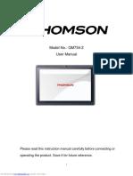 Thomson QM734 Tablet User Manual