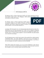 Philippine Alliance of Patient Organization Statement