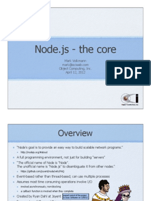 Node Core | Java Script | Operating System Technology