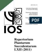 Repertorium Plantarum Succulentarum 62-2011