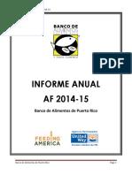 Informe Anual AF 2014-15