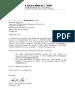 Letter of Undertaking - PSAC