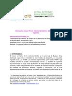 La Defensoría presentó ante la OEA un informe sobre violencia de género