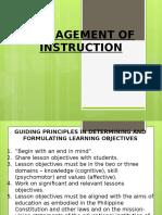 2 - Management of Instruction