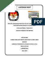 Analisis Hubungan Praktek Politik Uang Dg Tingkat Partisipasi Flores Timur