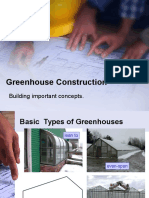 Greenhouse Construction STRUCTURES.ppt