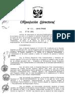 RESOLUCION DIRECTORAL N° 026-2015