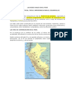 Las Redes Viales en El Perú (Ing Chavez)