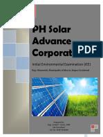 PSA- Solar Advance Corporation