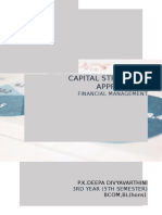 Capital Structure Approaches