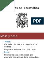 Principios de Hidrostática