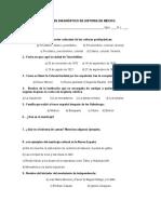 Diagnóstico Historia de México