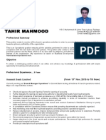 Tahir Mahmood Resume
