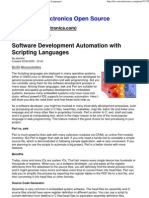Software Development Automation with Scripting Languages