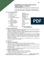 Silabo Botanica General y Sistematica 2016-II