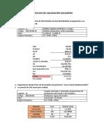 Ejercicios de liquidación-aduanera