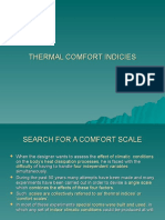 Thermal Comfort Indicies