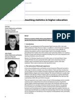 Using Minitab for Teaching Statistics in Higher Education