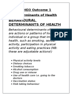 hhd3 outcome 1 determinants of health beh doh notes
