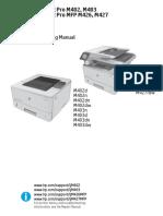 manual del usuario HP LaserJet Pro M402 M403 M426 M427 Troubleshooting Manual