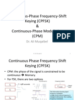 Continuous-Phase Frequency-Shift Keying (CPFSK)