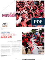Strengthening Local Disaster Management