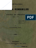 Desbinarea in Biserica Romanilor Din Ardeal Si Ungaria 1697-1701 - Alexandru Pop