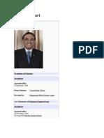 Asif Ali Zardari's wikipedia