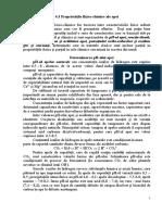 4.3 Proprietăţile Fizico-chimice Ale Apei
