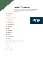 Advertising Vocabulary